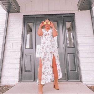 Lemon pattern dress